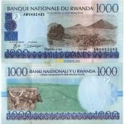 Руанда бона (27) 1000 франков 1998
