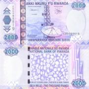 Руанда бона (36) 2000 франков 2007