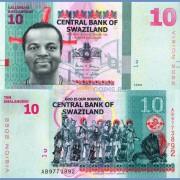 Свазиленд бона 10 эмалангени 2015