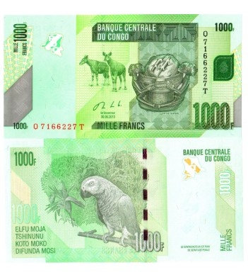 Конго бона 1000 франков 2013