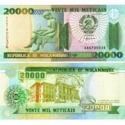 Мозамбик бона 20 000 метикал 1999