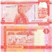 Гамбия бона 5 даласи 2015 Зимородок