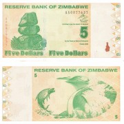 Зимбабве бона 5 долларов 2009