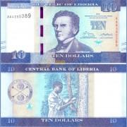 Либерия бона 10 долларов 2016