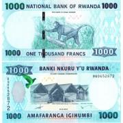 Руанда бона 1000 франков 2015