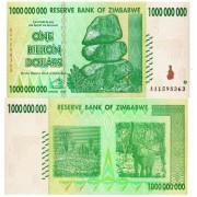 Зимбабве бона 1 000 000 000 долларов 2008