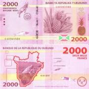 Бурунди бона 2000 франков 2015