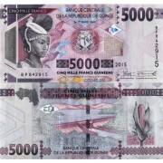 Гвинея бона 5000 франков 2015