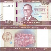 Либерия бона 20 долларов 2016