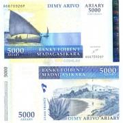 Мадагаскар бона 5000 ариари 2003