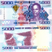 Сьерра-Леоне бона 5000 леоне 2010