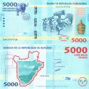 Бурунди бона 5000 франков 2015