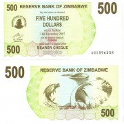 Зимбабве бона 500 долларов 2006