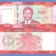 Либерия бона 50 долларов 2016