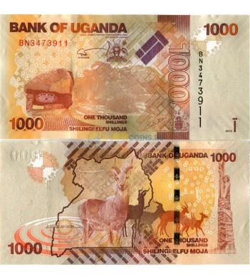 Уганда бона 1000 шиллингов 2013 Антилопы