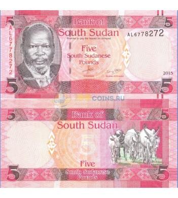 Южный Судан Бона 5 фунтов 2015