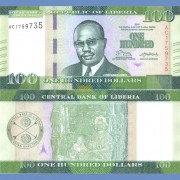 Либерия бона 100 долларов 2016