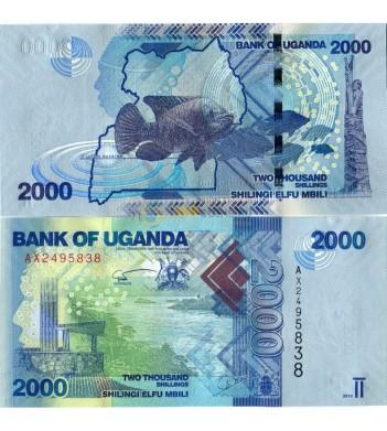 Уганда бона 2000 шиллингов 2010 Рыба