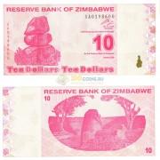 Зимбабве бона 10 долларов 2009