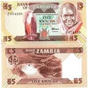 Замбия бона (025) 5 квача 1986-1988