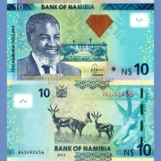 Намибия бона 10 долларов 2013