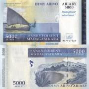 Мадагаскар бона 5000 ариари 2007 юбилейная