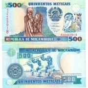 Мозамбик бона 500 метикал 1991