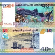 Джибути бона 40 франков 2017 40 лет независимости