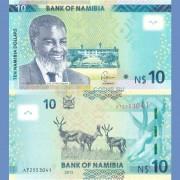 Намибия бона 10 долларов 2015