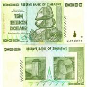 Зимбабве бона 10 000 000 000 000 долларов 2008