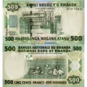 Руанда бона 500 франков 2008