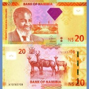 Намибия бона 20 долларов 2013