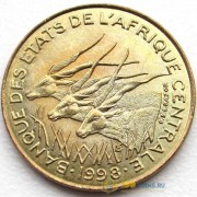 Центральная Африка 1973-1998 5 франков КФА