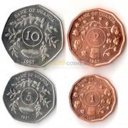 Уганда 1987 набор 4 монеты