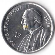 Конго 2004 1 франк Папа Иоанн Павел II