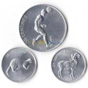 Конго 2002 набор 3 монеты