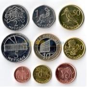 Мозамбик набор 9 монет 2006