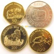 Танзания 2014-2015 Набор 4 монеты животные