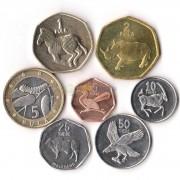 Ботсвана 1989-2009 набор 7 монет Животные
