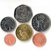 Гамбия 1998-2014 набор 6 монет