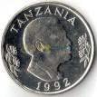 Танзания 1992 1 шиллинг Факел