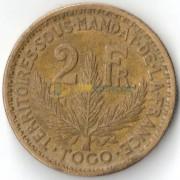 Того французское 1924 2 франка (km3)