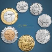 Ботсвана 2013 набор 7 монет Животные