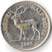Маврикий 2005 1/2 рупии