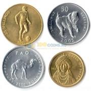 Сомали 2000-2002 набор 4 монеты