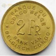 Бельгийское Конго 1946 2 франка