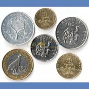 Джибути 1991-2013 набор 6 монет (5-250 франков)