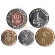 Руанда 2007-2011 набор 5 монет