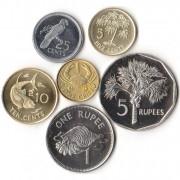 Сейшельские острова 2004-2012 набор 6 монет