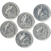 Бурунди 2014 Набор 6 монет Птицы